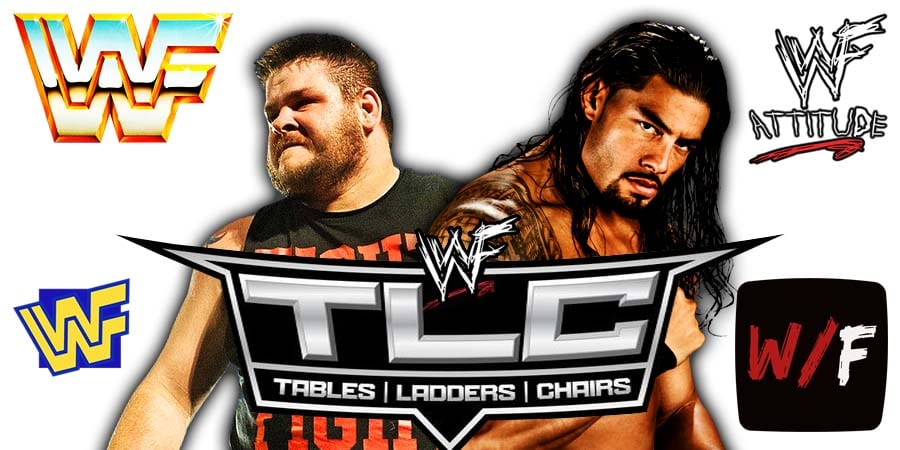 Kevin Owens vs Roman Reigns WWE TLC 2020 WrestleFeed App