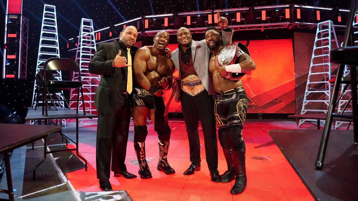 MVP Shelton Benjamin Bobby Lashley Cedric Alexander WWE TLC 2020