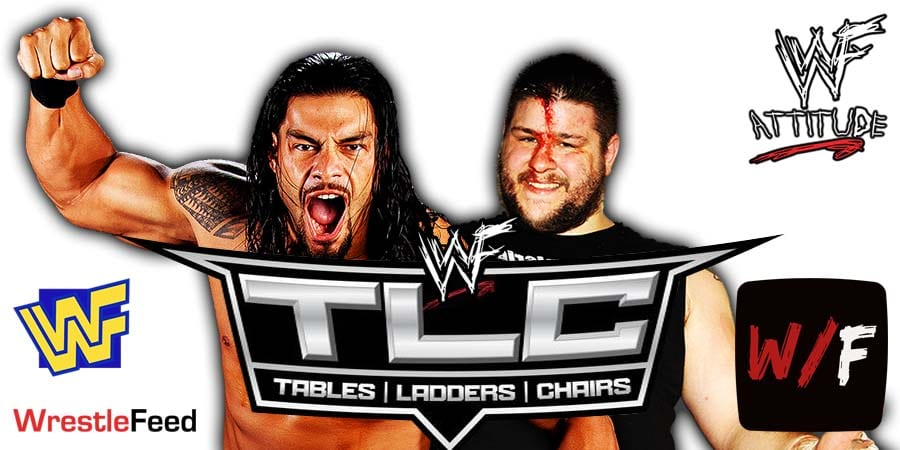 Roman Reigns defeats Kevin Owens at TLC 2020 WrestleFeed App