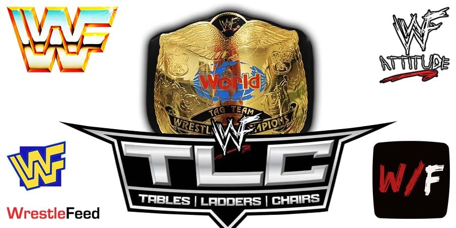 Tag Team Title Match TLC 2020 WrestleFeed App
