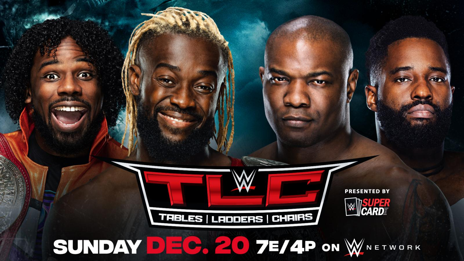 The New Day vs The Hurt Business WWE TLC 2020 Official Graphic