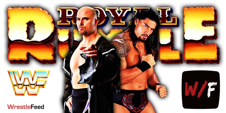 Adam Pearce vs Roman Reigns - Royal Rumble 2021 WrestleFeed App