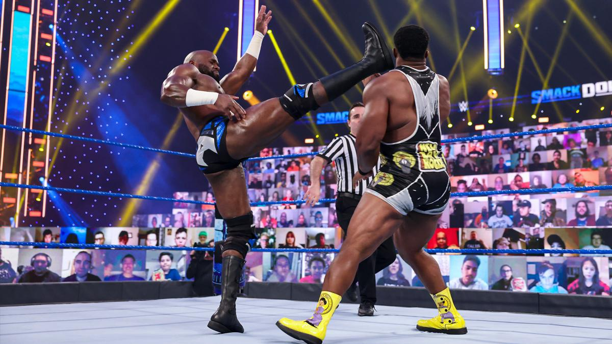 Apollo Crews Kicks Big E In The Face