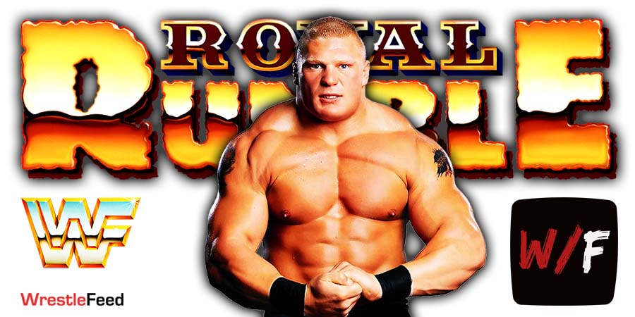 Brock Lesnar Royal Rumble 2021 WrestleFeed App
