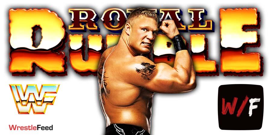 Brock Lesnar WWE Royal Rumble 2021 WrestleFeed App