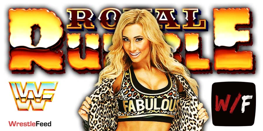 Carmella Royal Rumble 2021 WrestleFeed App