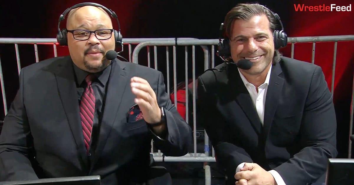 D'Lo Brown Matt Striker Impact Wrestling Hard To Kill 2021 Commentary Team WrestleFeed App
