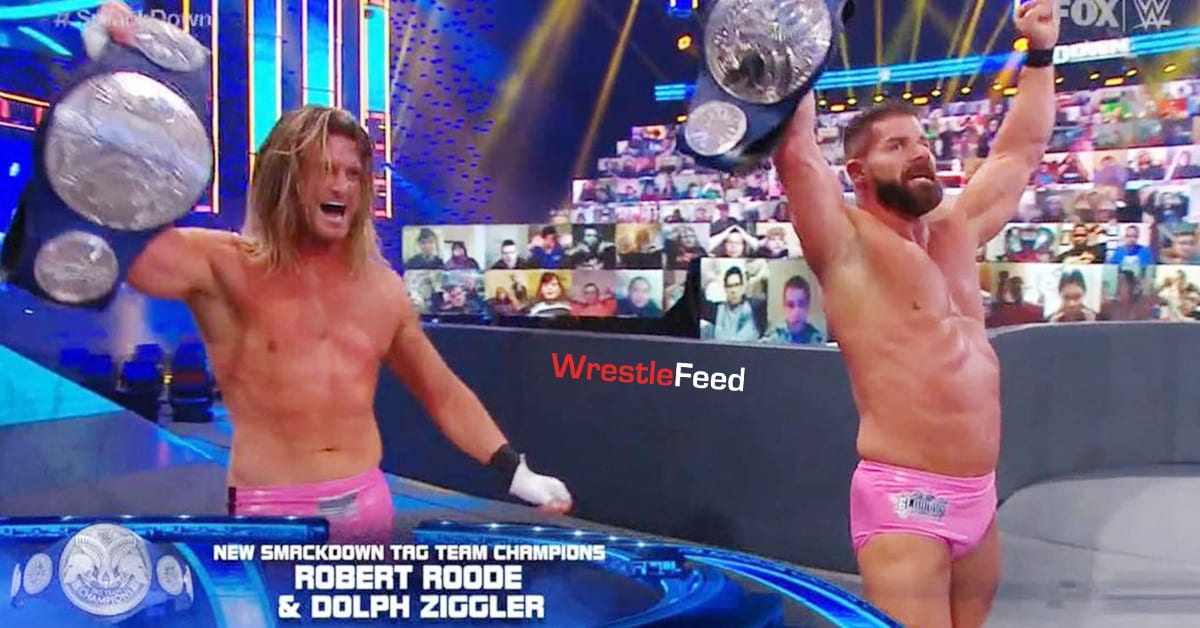 Dolph Ziggler Robert Roode Win SmackDown Tag Team Championship January 2021 WrestleFeed App
