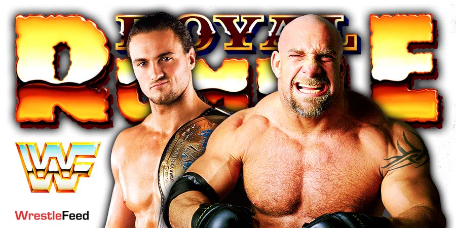 Drew McIntyre vs Goldberg WWE Royal Rumble 2021 WrestleFeed App