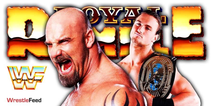 Goldberg vs Drew McIntyre Match WWE Royal Rumble 2021 WrestleFeed App