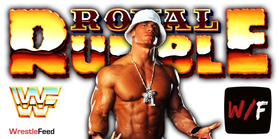 John Cena Royal Rumble 2021 WrestleFeed App