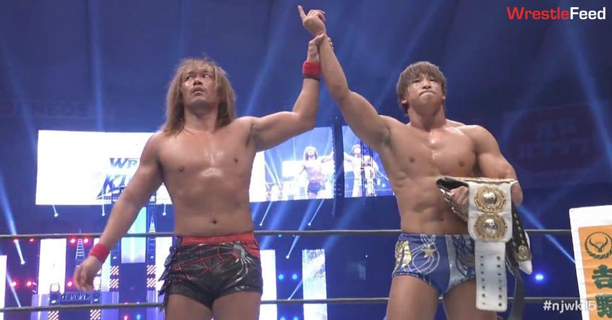 Kota Ibushi Wins IWGP Heavyweight Championship & Intercontinental Championship At NJPW Wrestle Kingdom 15 Night 1 WrestleFeed App