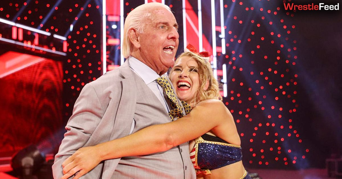 Lacey Evans Hugs Ric Flair WWE RAW January 2021 WrestleFeed App