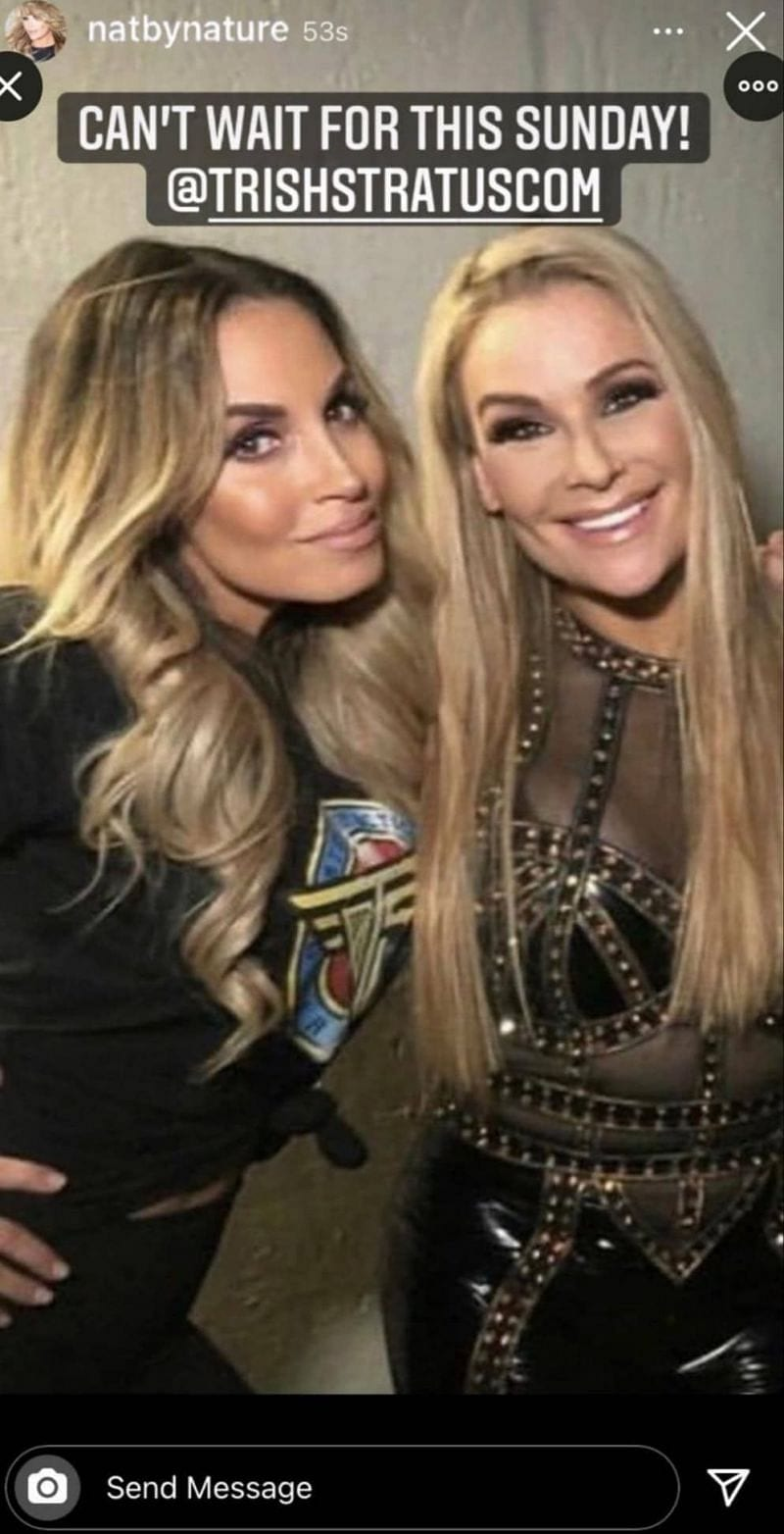 Natalya possibly spoils Trish Stratus' entry in the Women's Royal Rumble 2021 match