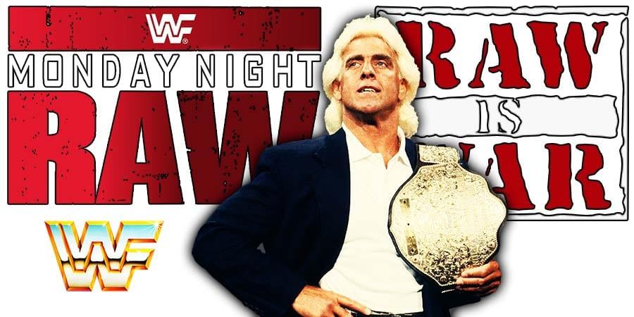 Ric Flair World Heavyweigh Champion RAW Article Pic