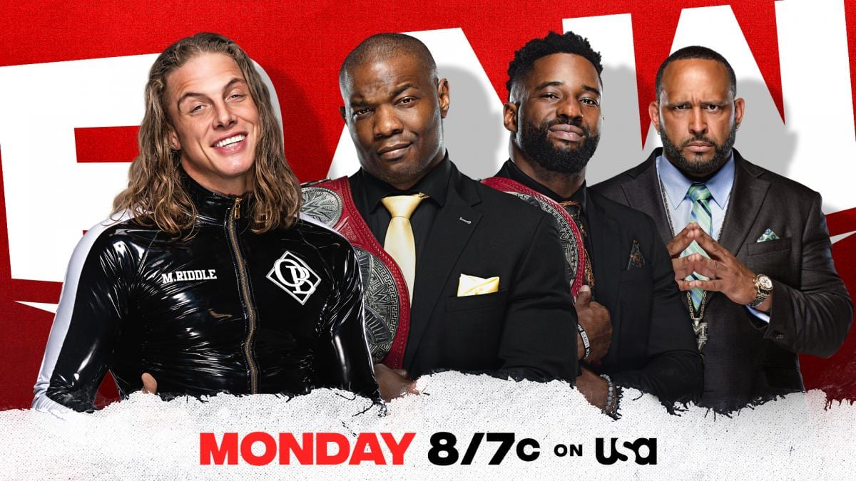 Riddle vs Hurt Business WWE RAW Graphic