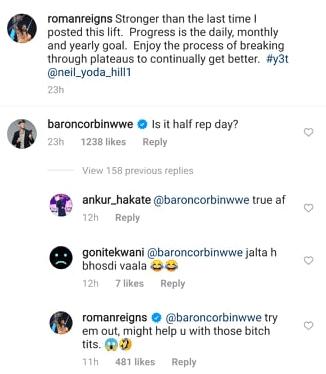 Roman Reigns Says King Baron Corbin Has Bitch Tits