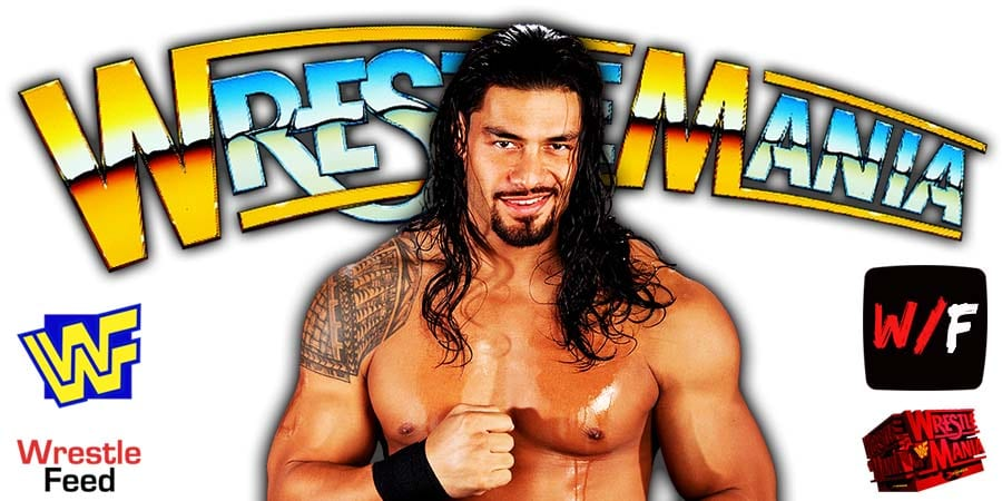 Roman Reigns WrestleMania 37 Title Match WrestleFeed App