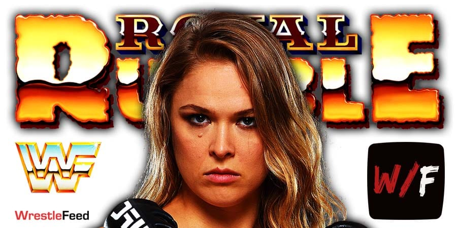 Ronda Rousey Royal Rumble 2021 WrestleFeed App