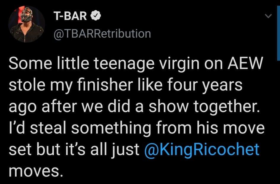 T-Bar Calls Sammy Guevara Teenage Virgin