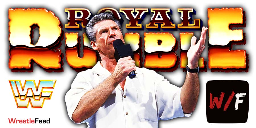Vince McMahon Royal Rumble 2021 WrestleFeed App