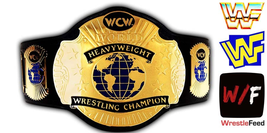 WCW World Heavyweight Championship Title Belt Article Pic WrestleFeed App