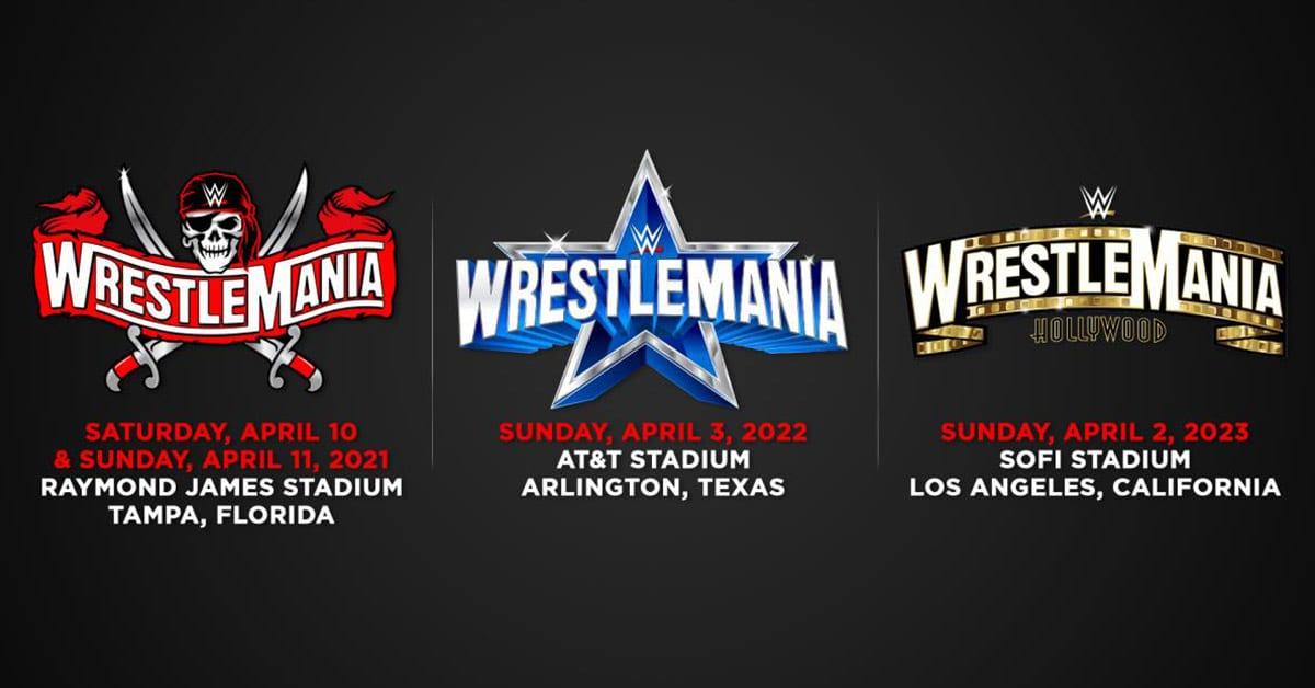 WrestleMania 37 38 39 Schedule