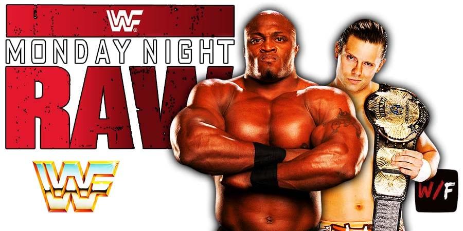 Bobby Lashley vs The Miz WWE Championship Match RAW WrestleFeed App