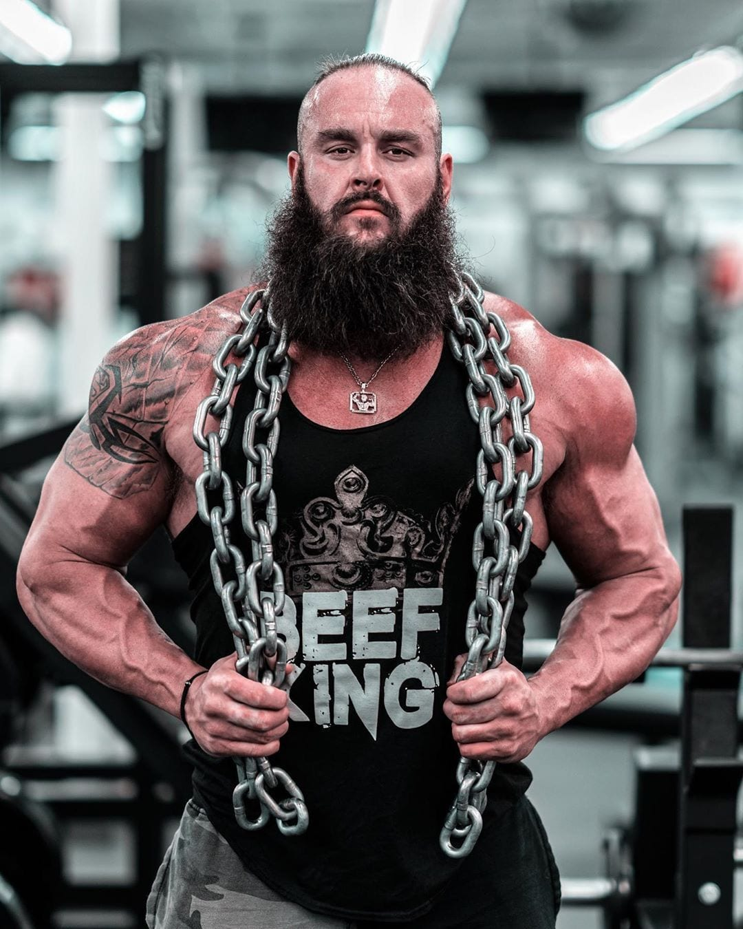 Braun Strowman Muscular Vascular Ripped Jacked Physique WWE Steroids