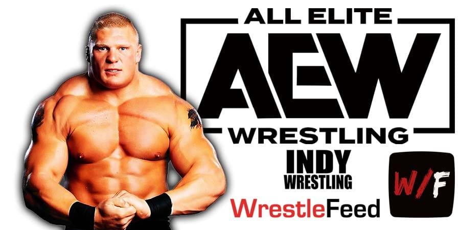 Brock Lesnar AEW All Elite Wrestling Article Pic 3 WrestleFeed App