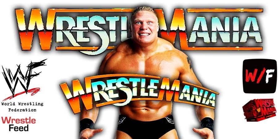 Brock Lesnar WrestleMania 37 WrestleFeed App