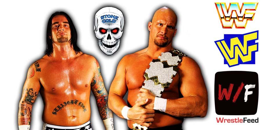 CM Punk vs Stone Cold Steve Austin WWF Attitude Era vs WWE PG Era Dream Match WrestleFeed App