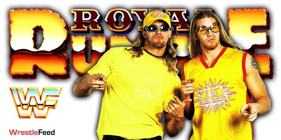 Edge & Christian Reunion Royal Rumble 2021 WrestleFeed App