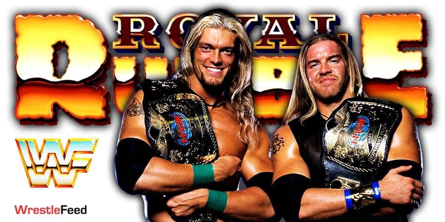 Edge & Christian Royal Rumble 2021 Appearance WrestleFeed App