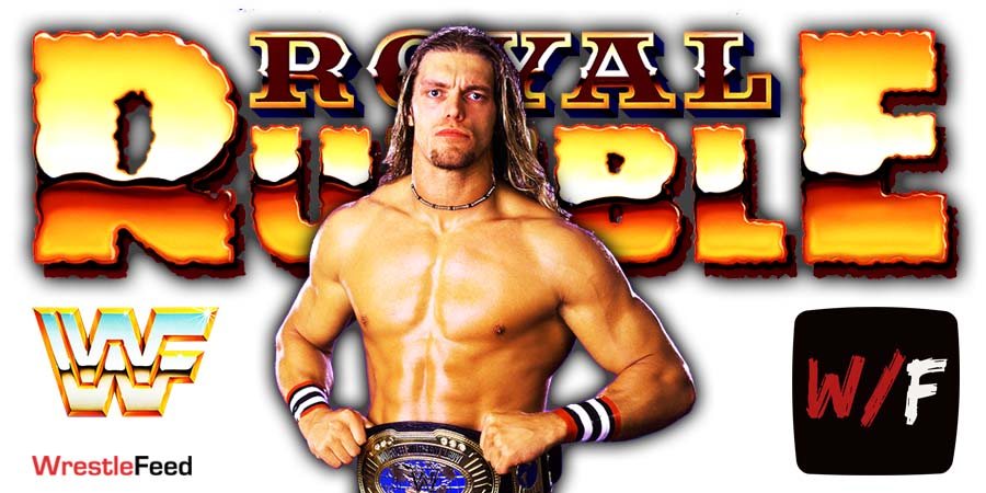 Edge Wins Royal Rumble Men's Match 2021. WrestleFeed App