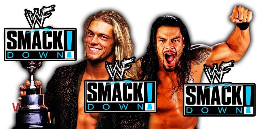 Edge vs Roman Reigns SmackDown Article Pic