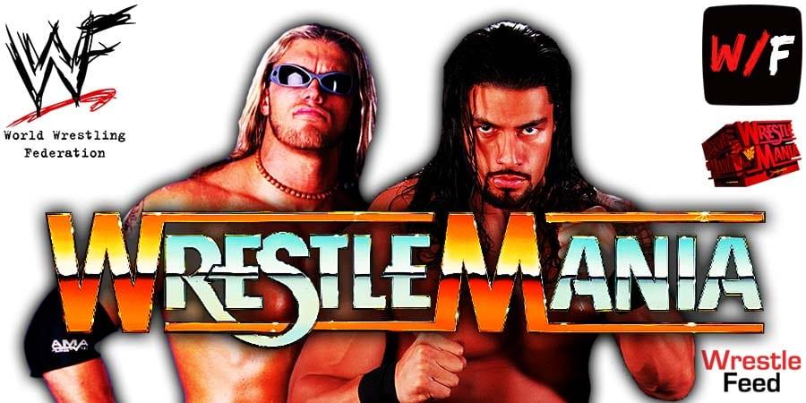 Edge vs Roman Reigns WWE WrestleMania 37 WrestleFeed App
