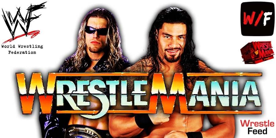 Edge vs Roman Reigns - WrestleMania 37 WrestleFeed App