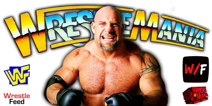 Goldberg WrestleMania 37 WrestleFeed App