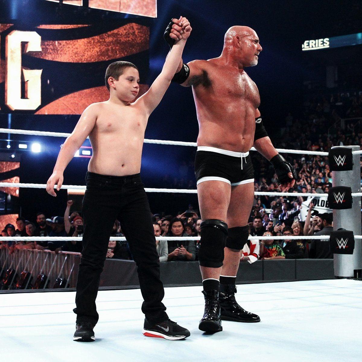 Goldberg with his son WWE Survivor Series 2016