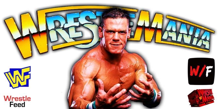John Cena WrestleMania 37 WrestleFeed App