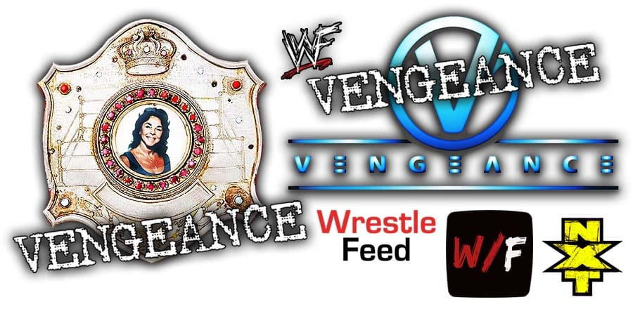 NXT Women's Championship Title Match NXT TakeOver Vengeance Day WrestleFeed App