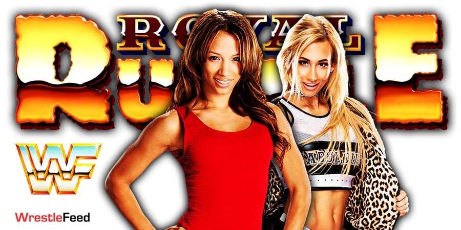 Sasha Banks defeats Carmella at Royal Rumble 2021 WrestleFeed App