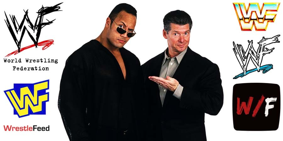 The Rock Dwayne Johnson with Vince McMahon Article Pic 9 WrestleFeed App