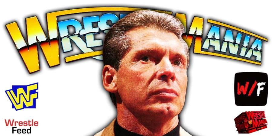 Vince McMahon WWE WrestleMania 37 WrestleFeed App