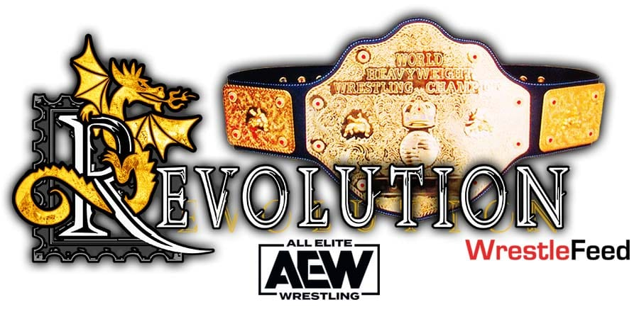 AEW World Title Match Revolution 2021 WrestleFeed App
