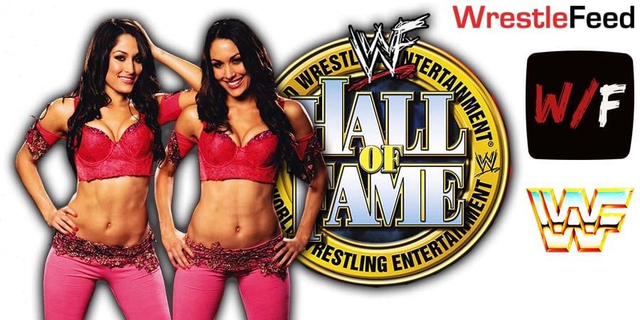 Bella Twins Brie Nikki Bella WWE Hall Of Fame WrestleFeed App