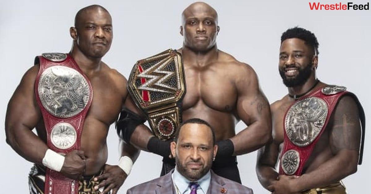 Bobby Lashley WWE Champion Shelton Benjamin Cedric Alexander RAW Tag Team Champions MVP Hurt Business WrestleFeed App