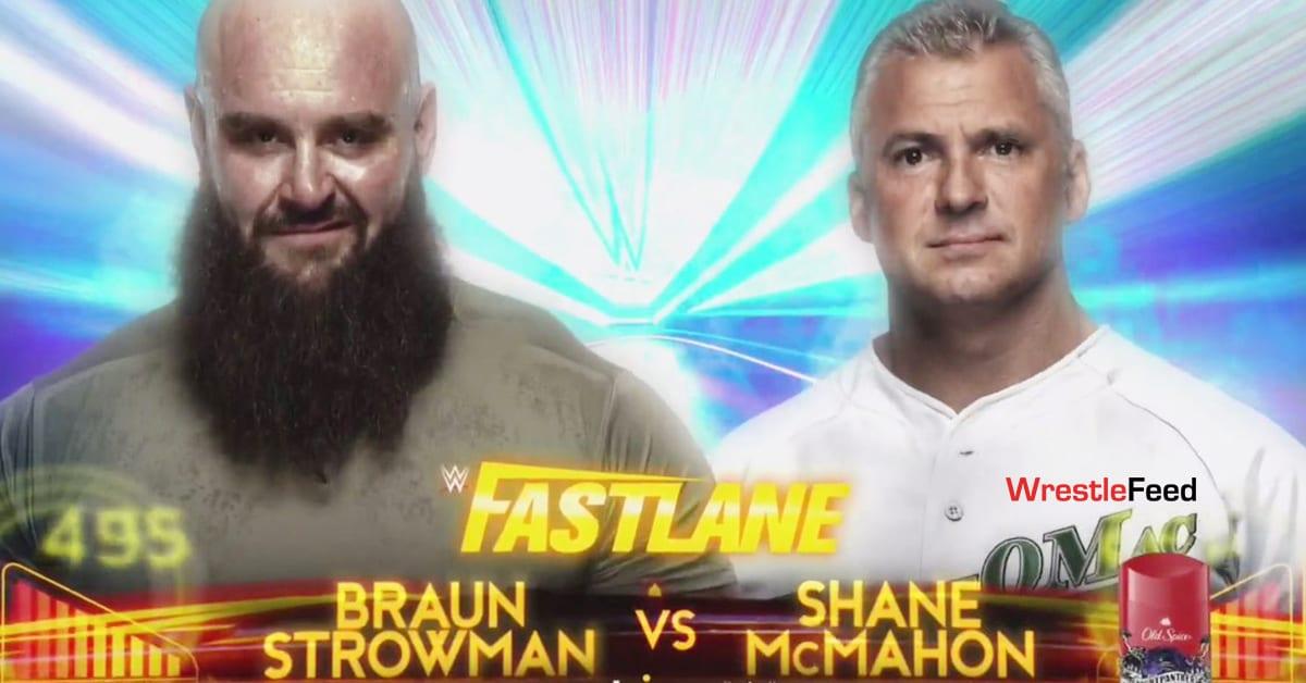 Braun Strowman vs Shane McMahon WWE Fastlane 2021 Official Graphic WrestleFeed App