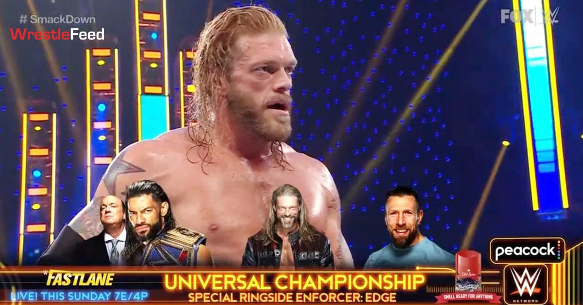 Edge defeats Jey Uso on SmackDown to become special ring enforcer at WWE Fastlane 2021 WrestleFeed App